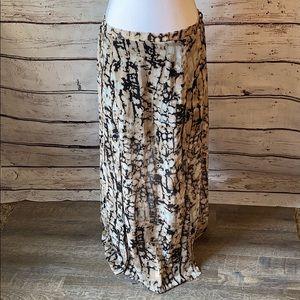 HeartSoul Cream/Black Maxi skirt